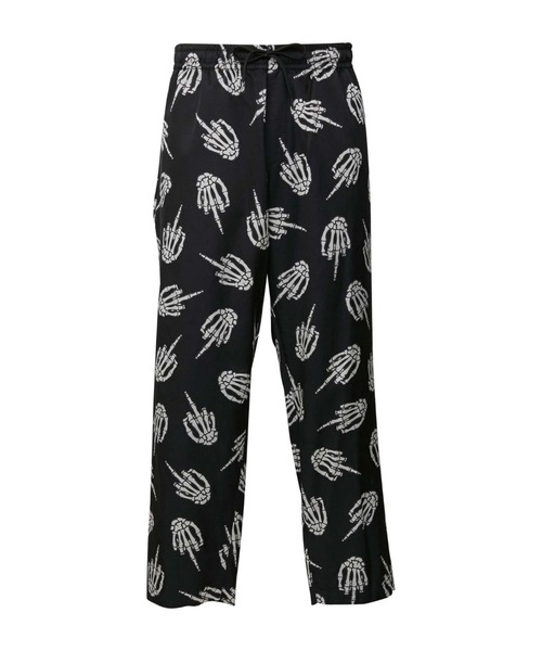 MIDDLE FINGER柄 パジャマパンツ