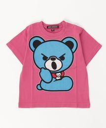 HELLO BEAR pt Tシャツ【XS/S/M】マジェンタ