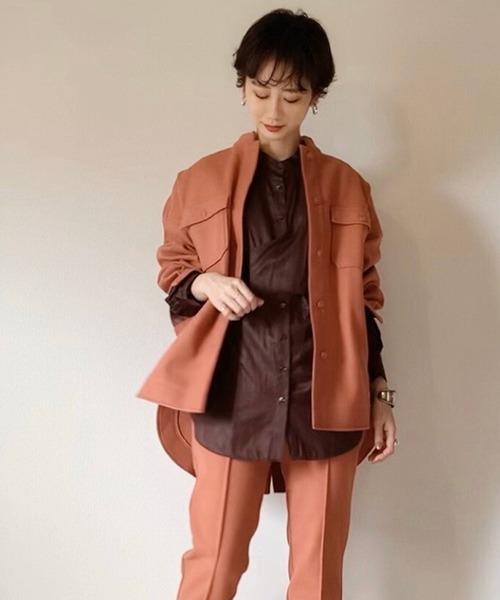 【tomoka×LHELBIE】メルトン風CPOシャツジャケット