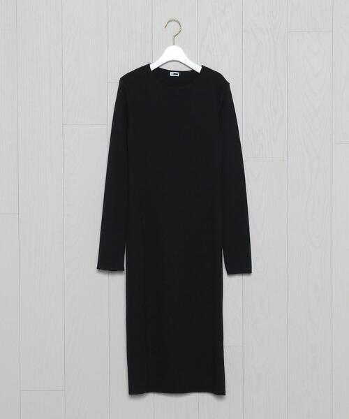 <H>TERECO SLIT DRESS/ワンピース