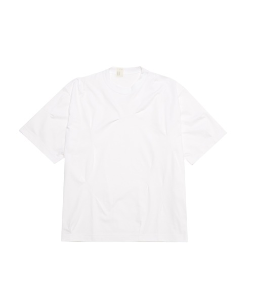 SPRING2020 RANDOM TUCKED CREW NECK T-SHIRT