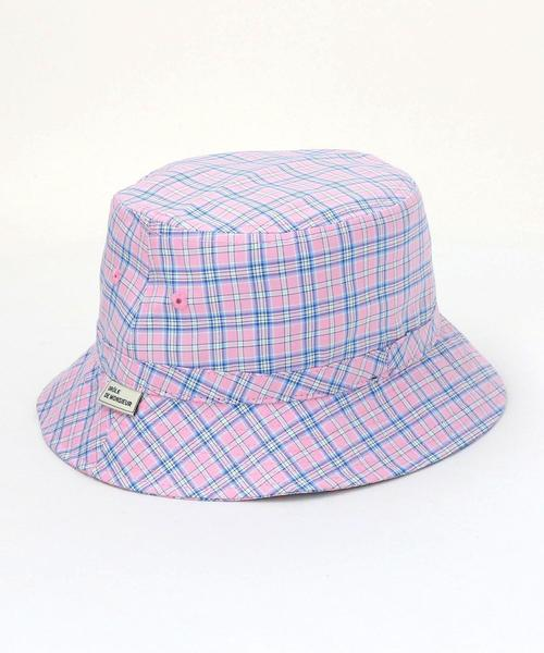 <DROLE DE MONSIEUR> CEHCK BKT HAT/バケットハット