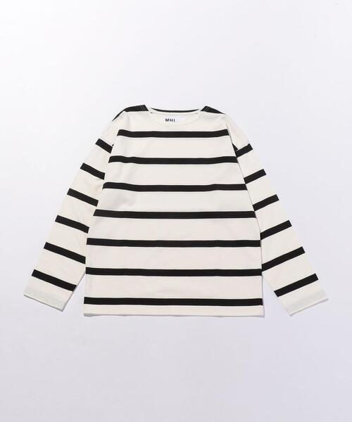 <MHL.> WIDE STRIPE/カットソー