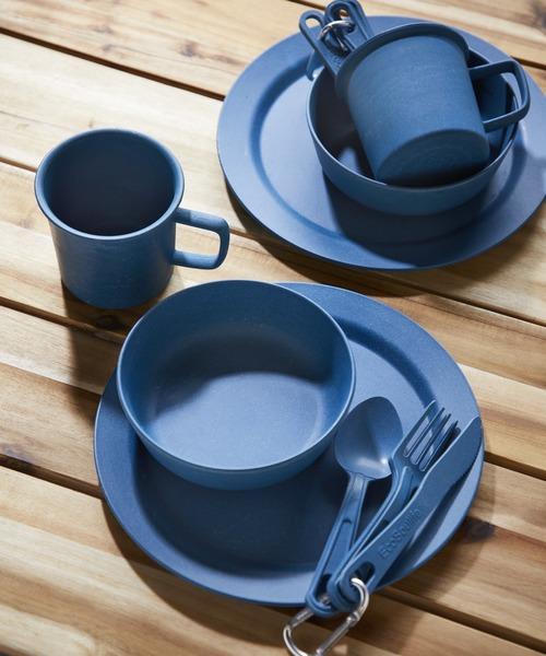 JACK & MARIE(ジャックアンドマリー)の「EcoSouLife Bamboo キャンパーセット 食器1セット(食器)」|ネイビー