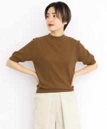 KBF(ケイビーエフ)のカノコ編み5分袖ニット(ニット/セーター)