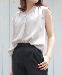 le.coeur blanc(ルクールブラン)のギャザーフレンチスキッパーシャツ(シャツ/ブラウス)