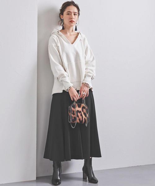 UWSC P セミフレア ロングスカート