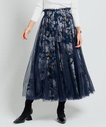 LADYMADE(レディメイド)のRomantic flower チュールティアードスカート(スカート)