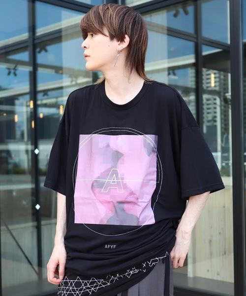 AFYF(エーエフワイエフ)の「AFYF MESH TRPRINT SS TEE2/オーバーサイズ メッシュTR プリントTシャツ(Tシャツ/カットソー)」|ブラック系その他3