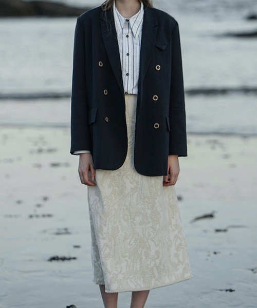 【LeonoraYang】Jacquard medium skirt chw1524