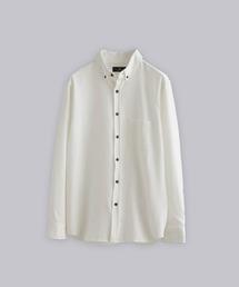 T/R ストレッチボタンダウンシャツオフホワイト