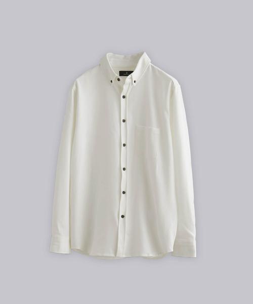 T/R ストレッチボタンダウンシャツ