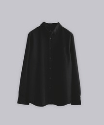 T/R ストレッチボタンダウンシャツブラック