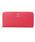 Samantha Thavasa Deluxe(サマンサタバサ デラックス)の「リボンブローチラウンド長財布(財布)」|レッド