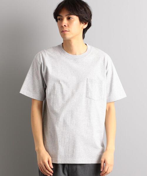 別注【WEB限定】 [ヘインズ] SC★★ Hanes BEEFY GLR ポケット Tシャツ