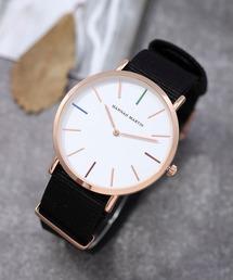 4A.M.LIFESTYLE(フォーエーエムライフスタイル)の「薄型7mmPUレザーウオッチ(腕時計)」
