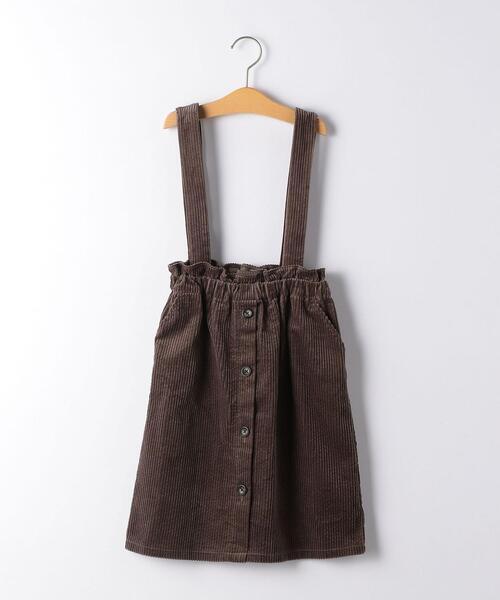 【ジュニア】太コール 2WAY ジャンパースカート