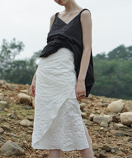 【LeonoraYang】Shrink wrap like skirt chw1526