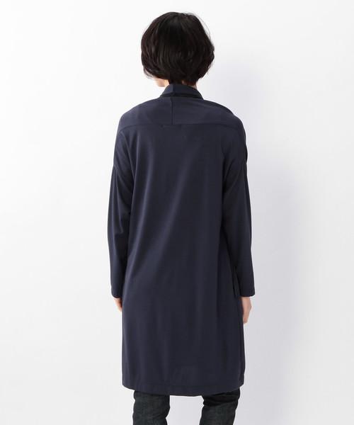 C/Puスムースキュプラ イカ衿ロングカーデ