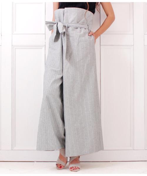 超爆安  【セール】ウエストリボンストライプパンツ(パンツ)|Alluge(アルージュ)のファッション通販, ふだんきものハイムラヤ:e8536d56 --- fahrservice-fischer.de