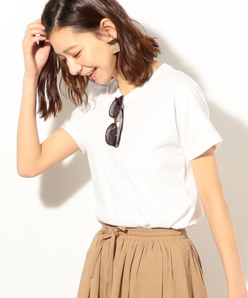 USAコットンベーシッククルーネックTシャツ