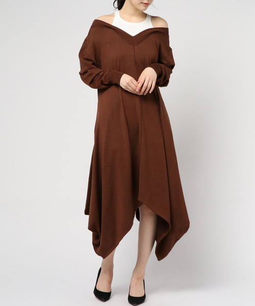 【国内在庫】 six Knit イレギュラー voma レイヤード ( シックスヴォーマ )/ Layered Irregular Knit Dress レイヤード イレギュラー ニットワンピース SV-11202(ワンピース)|ability(アビリティ)のファッション通販, MARUI:4b312a17 --- dominique-bilitza.de
