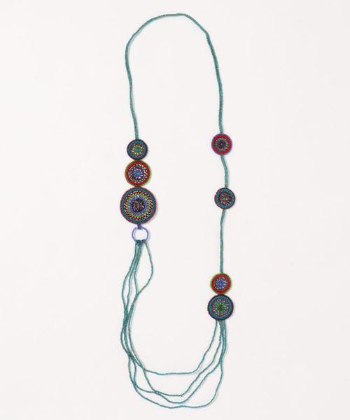 KU-CROISSANT(クークロワッサン)の「【VIDA DULCE】ハンドクラフトビーズネックレス(ネックレス)」|ブルーグリーン