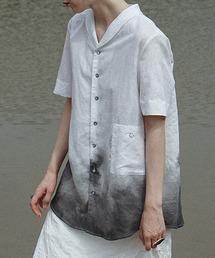 【LeonoraYang】Gradation linen shirt chw1527ホワイト系その他