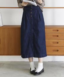 USAコットンデニムロングスカート