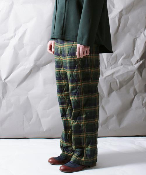 期間限定特別価格 【ohta】 check quioting pants, ビーズパーツ手芸総合店アウラ 4e98a1f0
