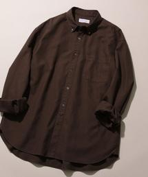 ADAM ET ROPE'(アダムエロペ)のフィンクスコットン オーバーサイズBDシャツ(シャツ/ブラウス)