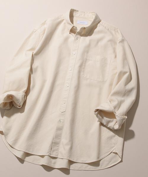 流行に  フィンクスコットン オーバーサイズBDシャツ(シャツ/ブラウス) ET ET ADAM ET ROPE