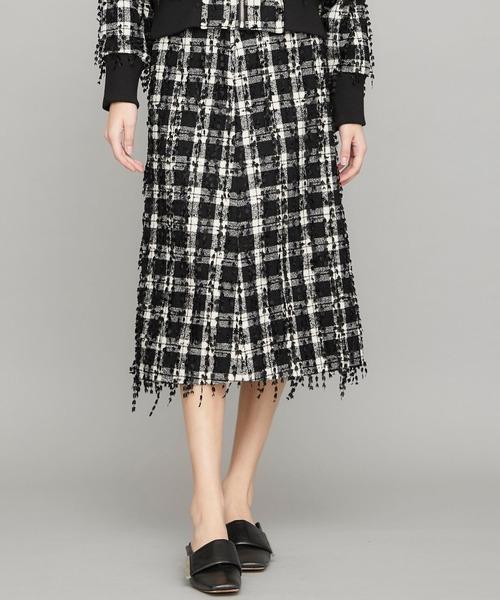 【LOKITHO(ロキト)】カットジャガードナロースカート