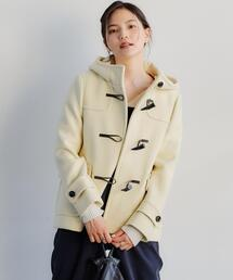 【WEB限定】ダッフル ショート コート オフホワイト
