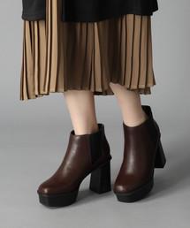HARE(ハレ)のサイドゴアチャンキーブーツ(HARE)(ブーツ)
