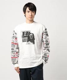 HI FI WOMAN pt リブ付Tシャツ