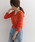 URBAN RESEARCH DOORS(アーバンリサーチドアーズ)の「透かし柄ニットカーディガン(カーディガン)」 オレンジ