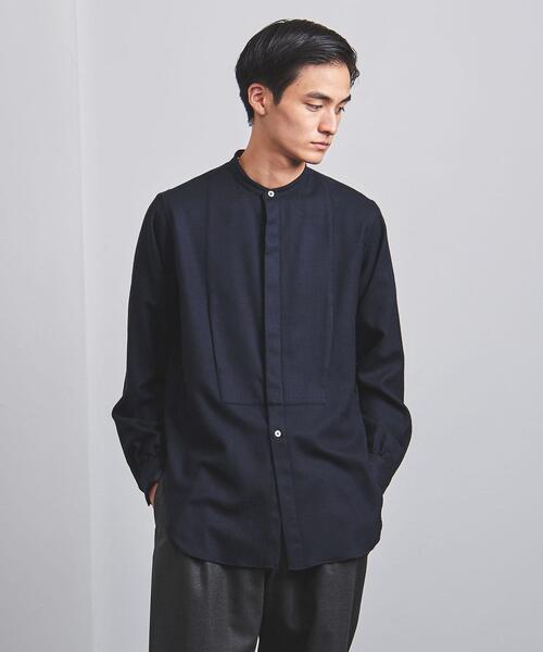 <Camoshita(カモシタ)> バンドカラー シャツ