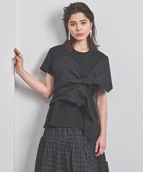 <AKIRA NAKA(アキラ ナカ)>ドレープ ノット Tシャツ ■■■
