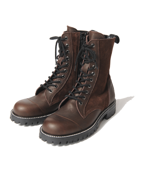 VIRGOwearworks(ヴァルゴウェアワークス)の「MILITARIA SPECIAL BOOTS 【HEXAGON】(ブーツ)」|ブラウン