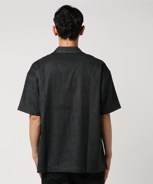 マイクロスエードオープンカラーシャツ