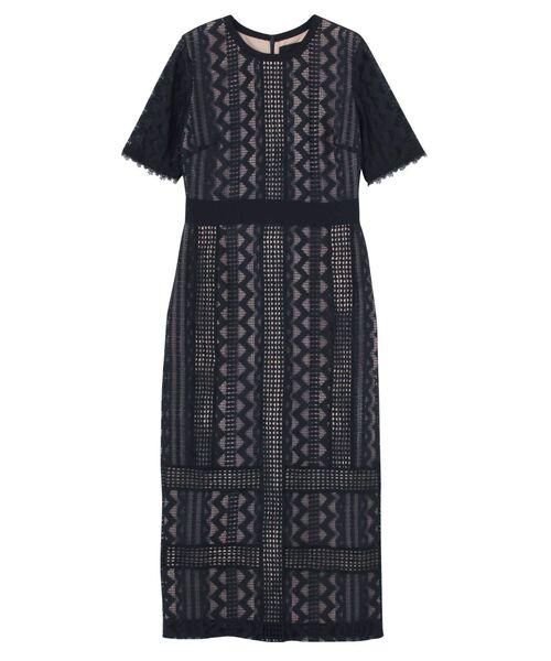 89bc3378fc5a9 LAGUNAMOON(ラグナムーン)のLADYジオメトリックレースドレス(ドレス)