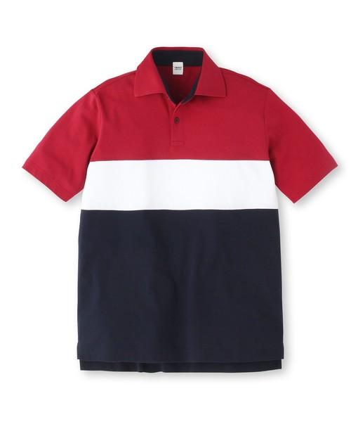 カラー切替ポロシャツ [ メンズ ポロシャツ ボーダー ]