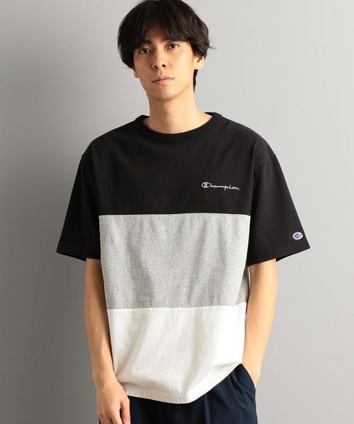 【WEB限定】[チャンピオン]  SC★★CHAMPION PANEL Tシャツ