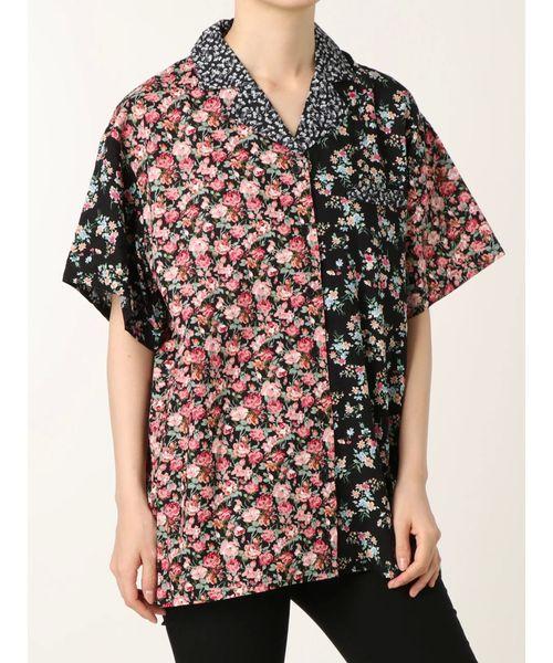 jouetie(ジュエティ)の「クレイジーパターンオーバーシャツ(シャツ/ブラウス)」|ブラック