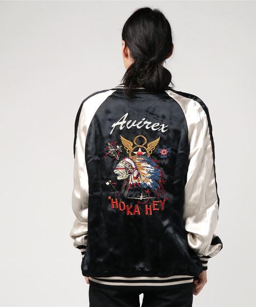 #スーベニアジャケット ホカヘイ/SOUVENIOR JACKET HOKA HEY/ スカジャン