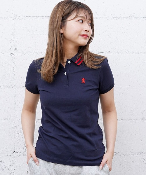 a254d797ba928 GIORDANO(ジョルダーノ)の[GIORDANO]スモールライオン刺繍ポロシャツ(ポロシャツ)