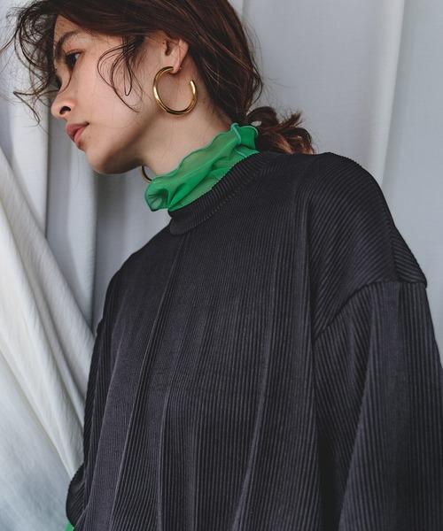 【chuclla】【2021/SS】Pleats T-shirt chw1531
