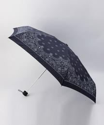 【別注】<HUS.>ペイズリー スマートアンブレラ/折り畳み傘