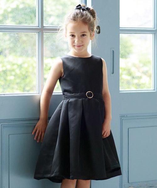 DRESS LAB(ドレスラボ)の「\キッズ パーティー ドレス/クラシカルフレアワンピースドレス(ママとお揃いドレス)【結婚式・お呼ばれ・誕生日会・パーティー・発表会など】(ドレス)」 ブラック